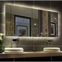 Зеркало для ванной комнаты с внутренней подсветкой Варна 100х80 см